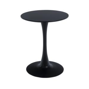Едноцветна бар маса с кръгъл плот в черно или бяло