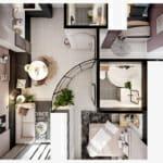 Визуализация на малък апартамент с френски шик