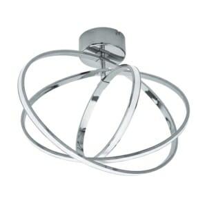 LED плафон с хромирани алуминиеви рингове серия Selvina