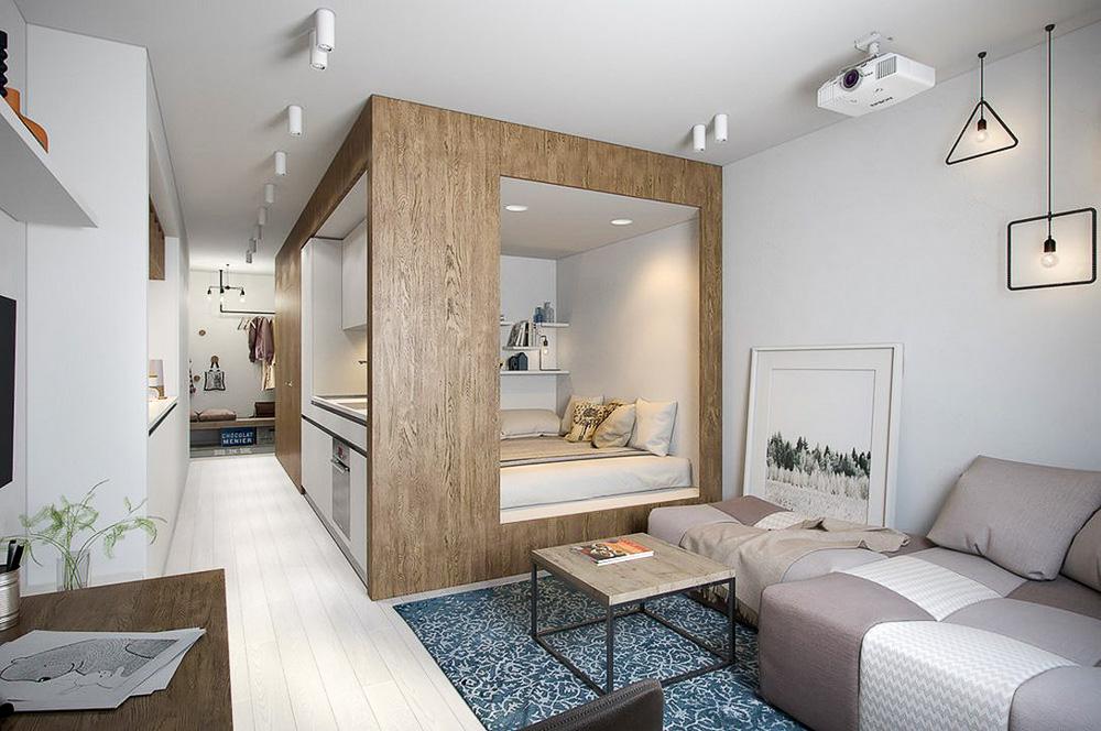 Стилен едностаен малък апартамент