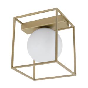 Стенен аплик със златитиста квадратна рамка серия Vallaspra