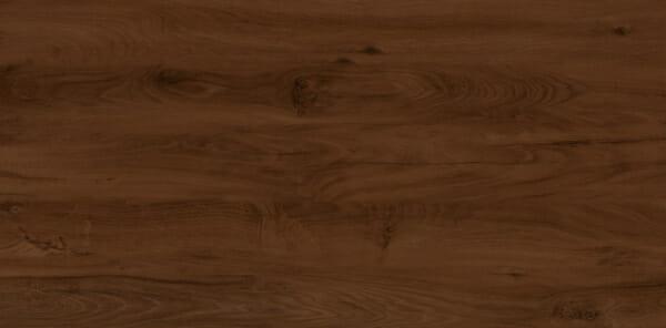 Дървено легло в цвят орех и табла в сиво Арно - цвят орех