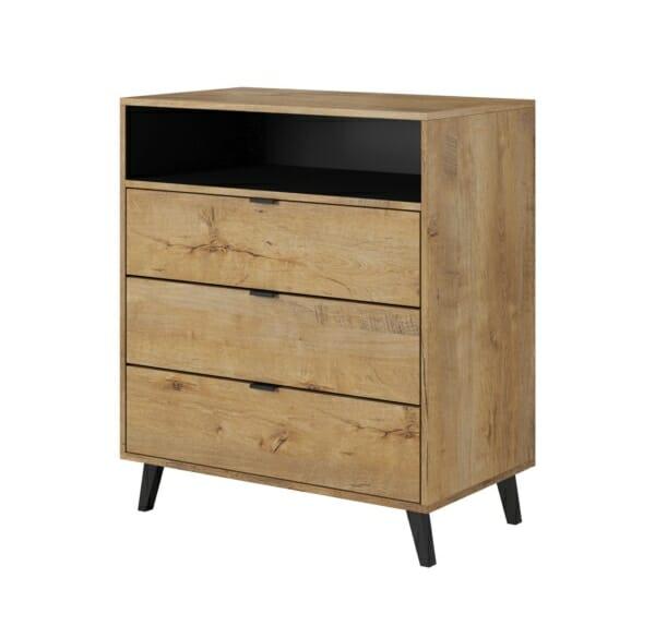 Дървен шкаф с витрина и крачета серия Нестор