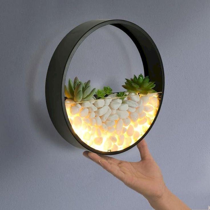 LED сукулентен терариум