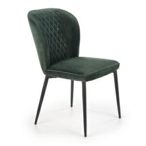 Плюшен трапезен стол с метални крака (3 цвята)