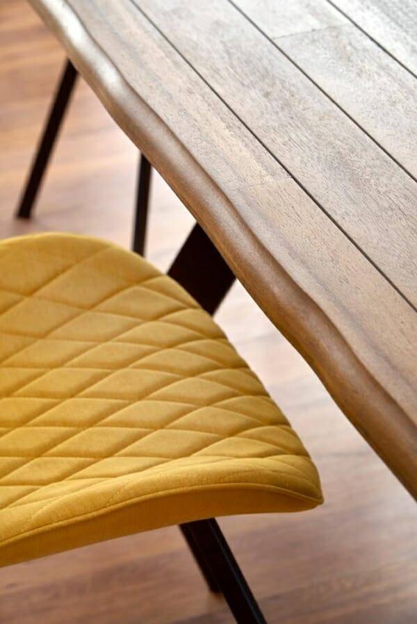 Правоъгълна маса за трапезария с дървен плот Еспидо - плот