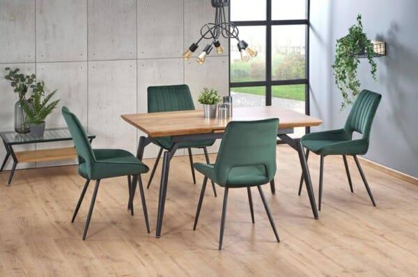 Разтегателна маса за трапезария с дървен плот - прибрана