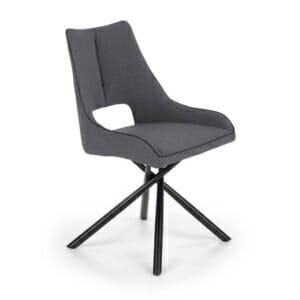 Сив трапезен стол с нестандартен дизайн