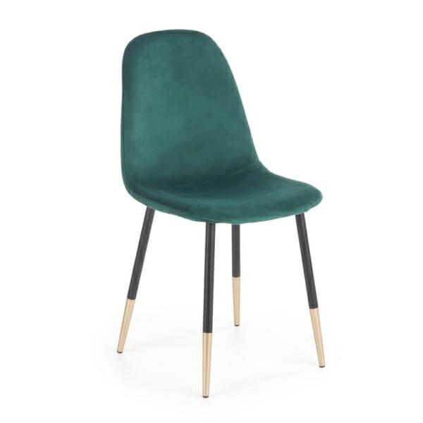 Стол с кадифена дамаска и крака в черно и златисто (2 цвята)