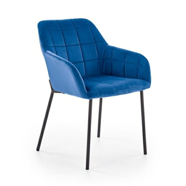 Стол с подлакътници и кадифена дамаска (3 цвята)