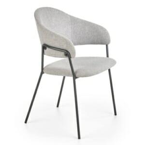 Текстилен стол с подлакътници и метална основа
