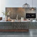 Релефни мраморни повърхности в кухнята