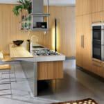 Мултифункционален кухненски остров в комбинация с дърво и метал