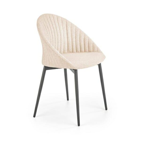 Траезен стол с дамаска в светлосиво или бежово