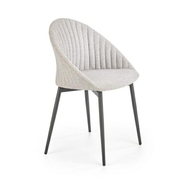 Траезен стол с дамаска в светлосиво или бежово - сив