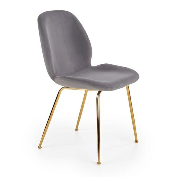 Трапезен стол с кадифена трапезария (2 цвята)