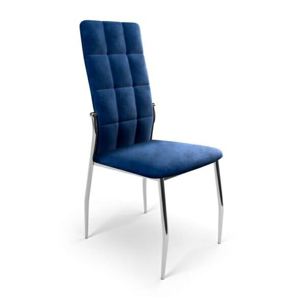Трапезен стол с метални крака и дамаска (3 цвята)