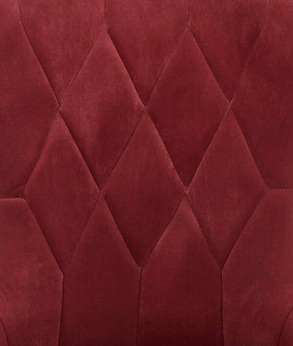 Трапезен стол с плюшена дамаска на ромбове (3 цвята) - дамаска