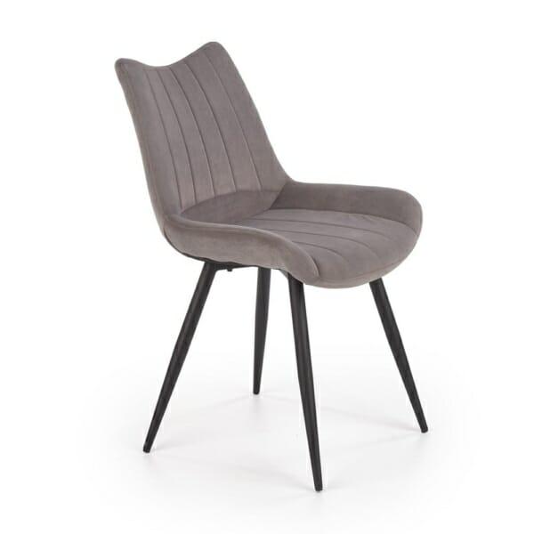 Трапезен стол с текстилна кадифена дамаска (2 цвята)
