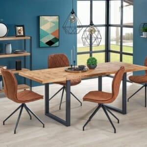 Трапезна маса с опция за разтягане в индустриален стил Хорн