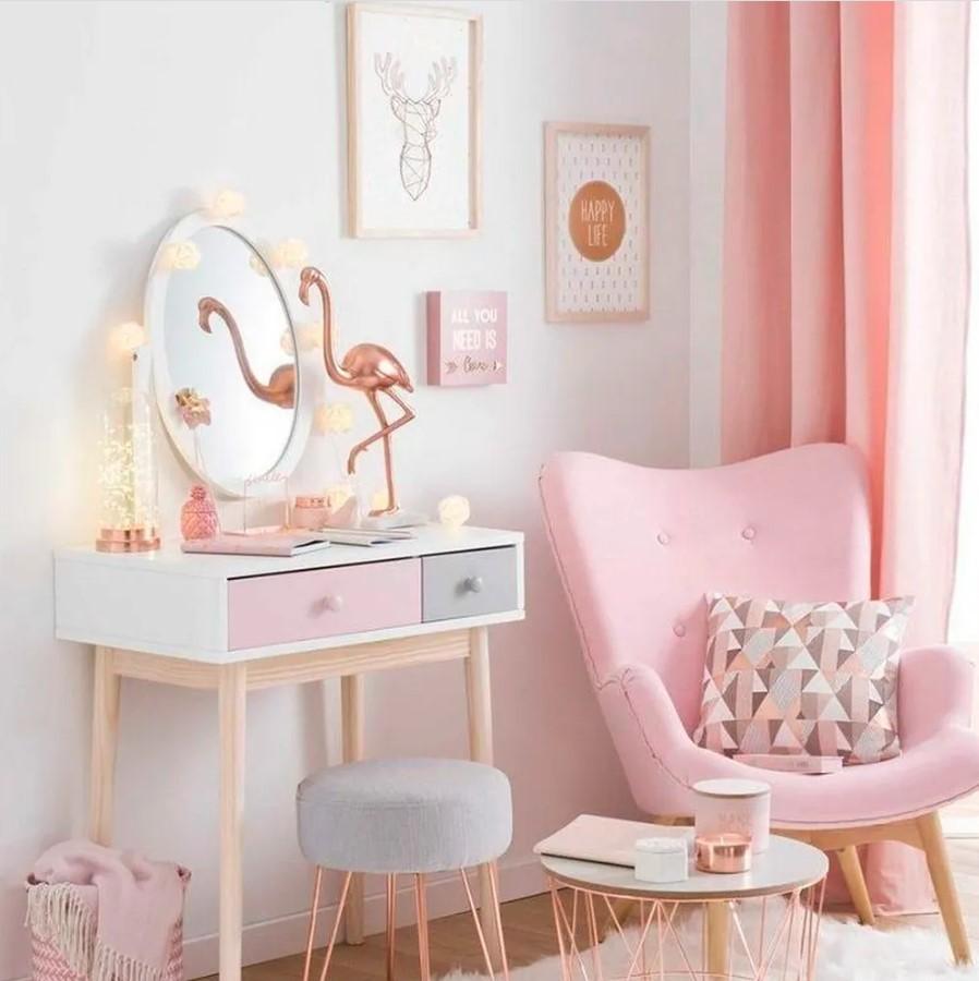 Момичещка стая в розово с фламинго