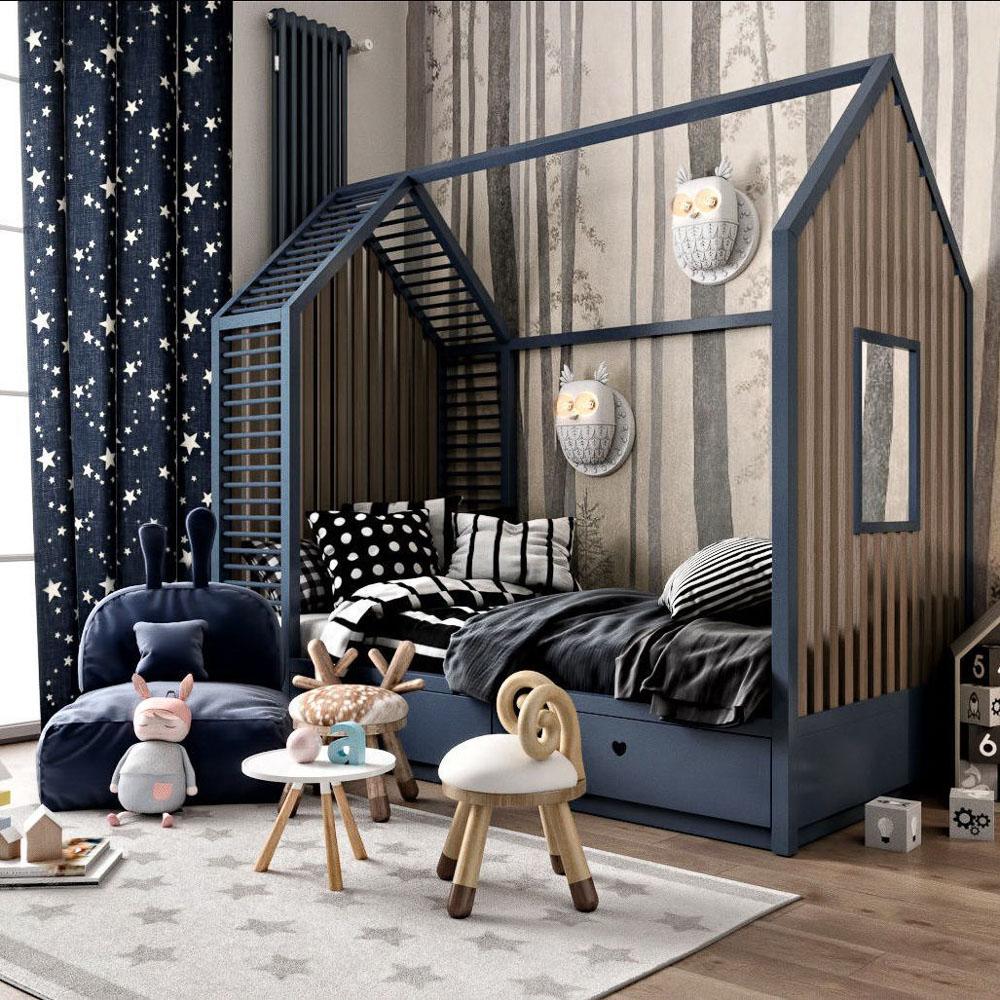 Детска стая с конструкция на къща