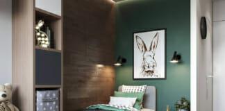 Детска стая в зелени нюанси