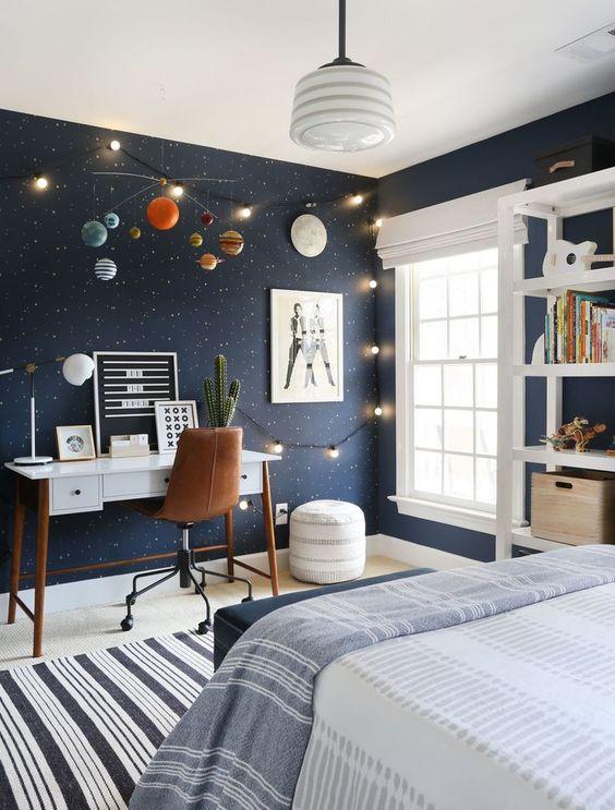 Детска стая за любители на космоса