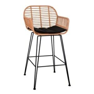 Ратанов бар стол за външна употреба