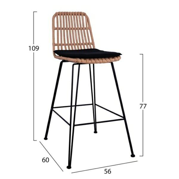 Бар стол за външна употреба- размери