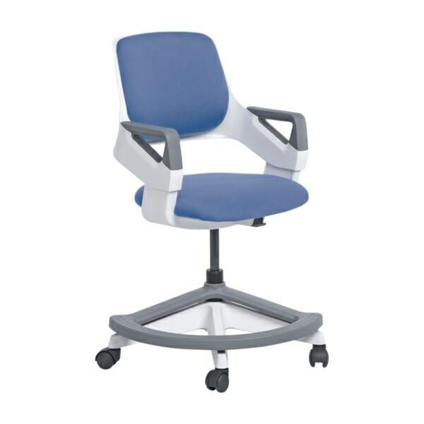 Детски офис стол с повдигащ механизъм (4 цвята) - син