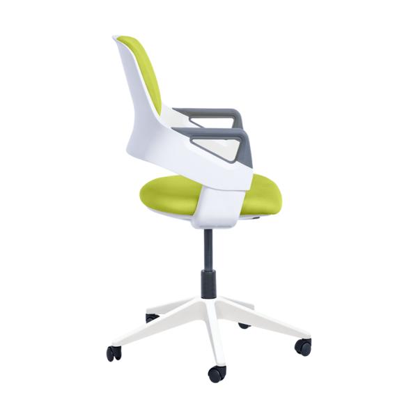 Детски офис стол в горчица или синьо с механизъм - странично