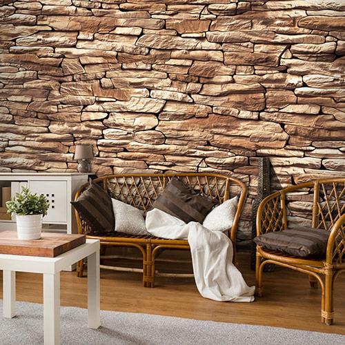 Фототапети с каменна стена, тухлена стена, дъски