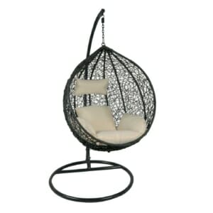 Градинска люлка от синтетичен ратан Мойра - вариант 1