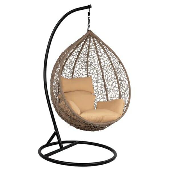 Градинска люлка тип гнездо Лони - сив цвят
