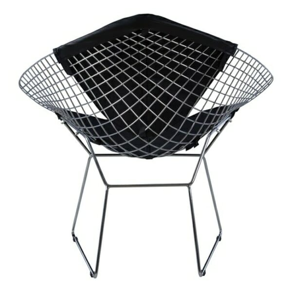 Кресло от метал и еко кожа - гръб