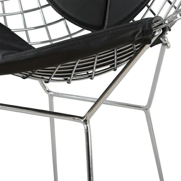 Кресло от метал и еко кожа - конструкция