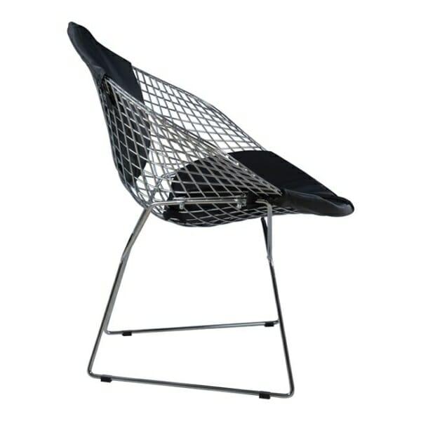 Кресло от метал и еко кожа - отстрани