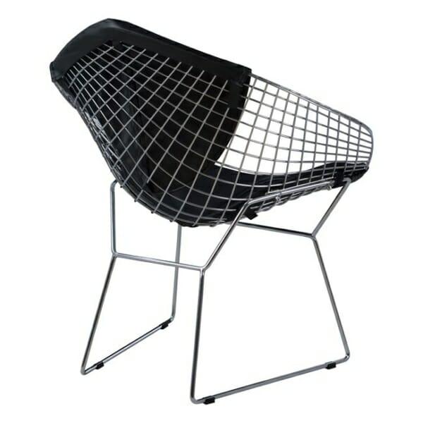 Кресло от метал и еко кожа - отзад