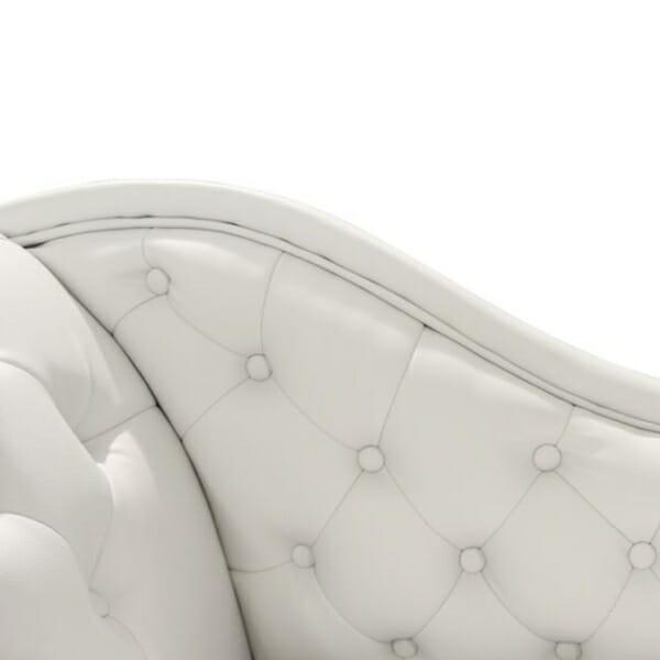 Бяла лежанка Честърфийлд - облегалка