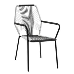 Модерен градински стол с подлакътници серия Бристол