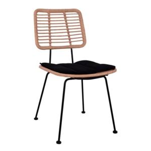 Модерен градински стол в черно и бежово