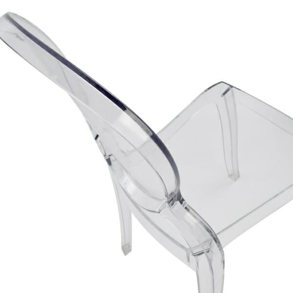 Модерен прозрачен стол - отгоре