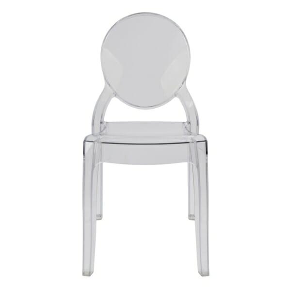 Модерен прозрачен стол - отпред