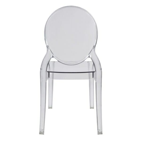 Модерен прозрачен стол - отзад