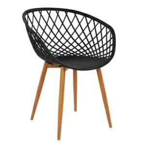 Модерен стол за вътрешна и външна употреба - черен
