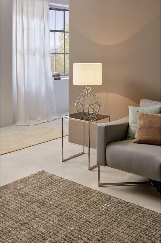 Настолна лампа от текстил и метал серия Pedregal 1 ( 2 цвята) - интериор