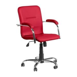 Офис стол от еко кожа с функция люлеене (7 цвята)