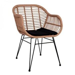 Ратанов градински стол с подлакътници