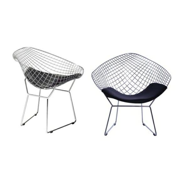 Метално кресло с мека седалка - хром